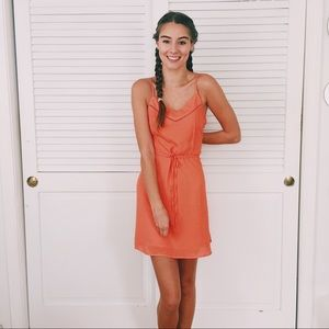 NWOT Orange/pink dress mini sundress
